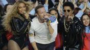 Beyoncé, Coldplay y Bruno Mars cantaron en el Super Bowl