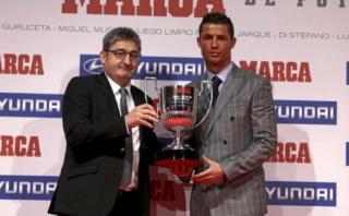 Cristiano Ronaldo y un premio más: recibió trofeo de 'Pichichi'