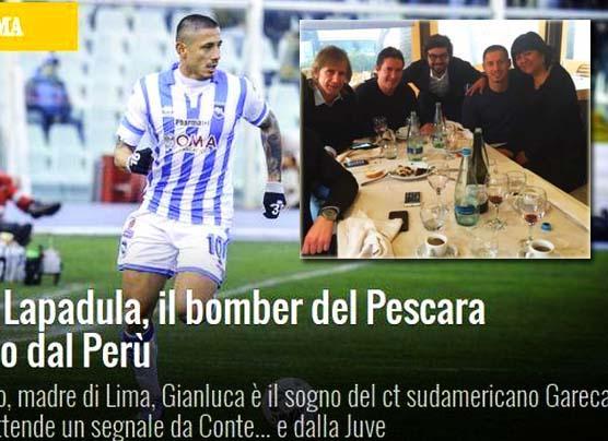 Gianluca Lapadula dijo esto de su reunión con Ricardo Gareca