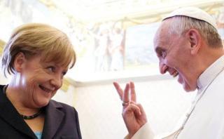 Merkel no recuerda haberse enfadado por frase del Papa