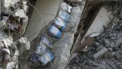 Terremoto en Taiwán: ¿Latas entre las paredes de un edificio?
