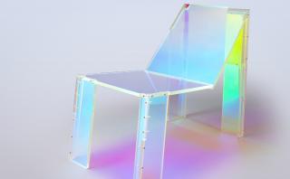 Iridiscente silla en homenaje a Daft Punk