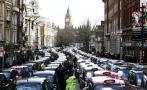 Protesta de taxis contra Uber paraliza Londres