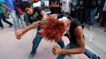 Xochimilcas, la tradicional pelea mexicana en Zitlala