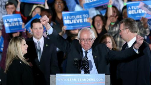 Sanders aseguró este martes que su victoria es un mensaje claro para Wall Street.