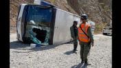Así quedó el bus de Huracán tras volcarse en Venezuela [FOTOS]