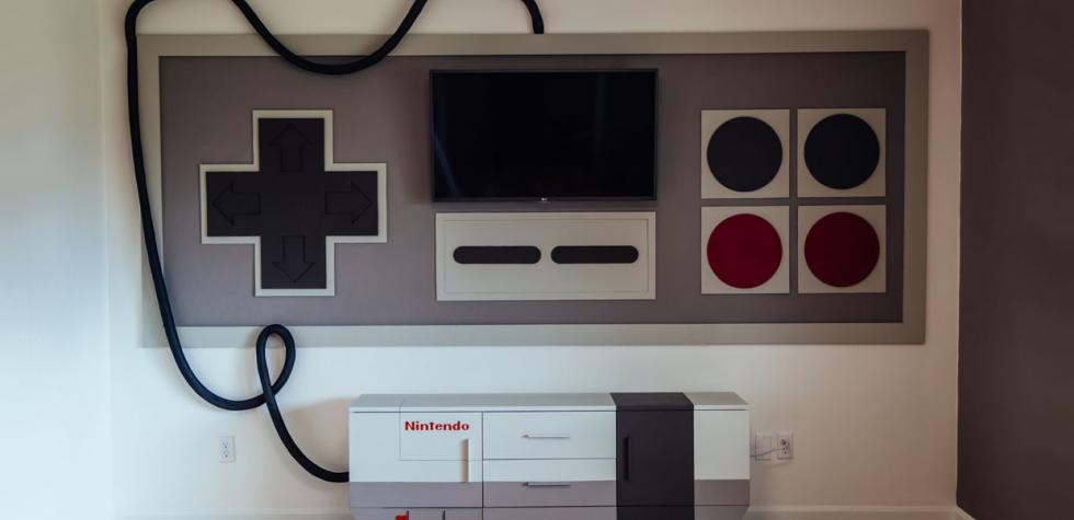 Consola de Nintendo gigante se adueña de esta sala