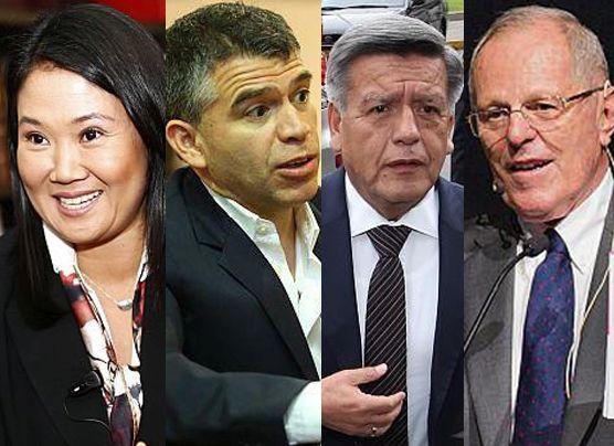 Datum: Keiko primera con 35% y Julio Guzmán segundo con 17%