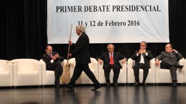 7 postales del primer debate de candidatos presidenciales