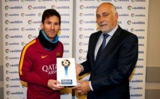 Messi es nombrado por primera vez jugador del mes en la Liga