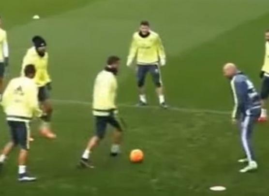 Cristiano intentó hacerle una 'huacha' a Zidane y esto pasó