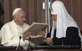 Los regalos que intercambiaron el Papa y Kirill en Cuba