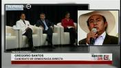 Gregorio Santos participa de debate presidencial desde prisión