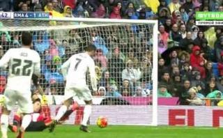 Cristiano la paró de pecho, se sacó a rival y fusiló al portero
