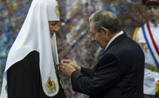 """Cuba condecoró al patriarca ruso con la orden """"José Martí"""""""