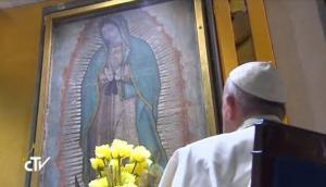 Francisco cumplió deseo de orar frente a la Virgen de Guadalupe