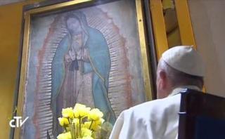 El encuentro del papa Francisco con la Virgen de Guadalupe