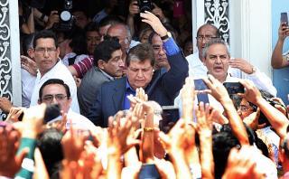 Alan García dice que no piensa en declinar su candidatura