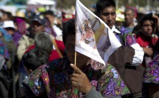 """Indígenas agradecen al Papa en Chiapas: """"Muchos nos desprecian"""""""