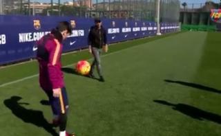 Messi anotó este golazo ante incrédulo cantante Eros Ramazzotti