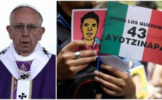 Padres de los 43 de Ayotzinapa no irán a misa del Papa