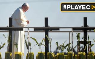 El Papa ora ante la Cruz del Migrante en frontera con EE.UU.