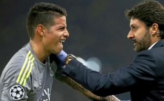 James Rodríguez: así le acomodaron el hombro en pleno partido