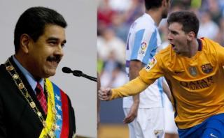 """Nicolás Maduro en discurso: """"Viva Cataluña, viva Messi"""""""
