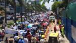 Sedapal: así fue marcha en vía expresa contra inversión privada - Noticias de privatización de sedapal