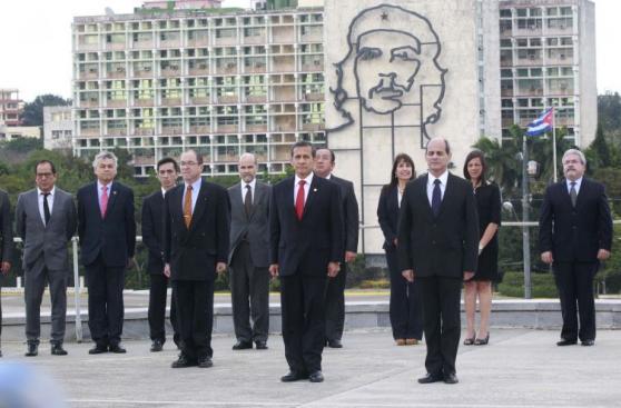 Visita de Ollanta Humala a Cuba y su encuentro con Raúl Castro