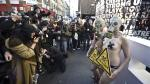 Activistas de PETA protestan contra el London Fashion Week - Noticias de milan fashion week