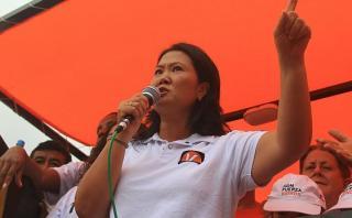 Keiko Fujimori: Julio Guzmán debe aclarar nexos con el gobierno