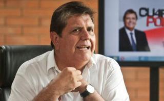Alan García acusa a El Comercio de manipular información