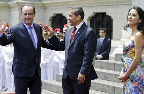 Ollanta Humala recibió a Francois Hollande en Palacio [Fotos]