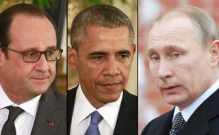 Hollande y Obama vigilarán que Putin deje de atacar Siria