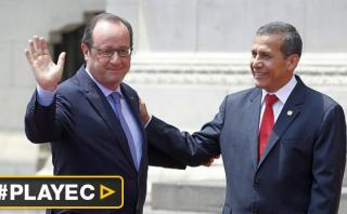 Francois Hollande y Ollanta Humala se reunieron en Palacio