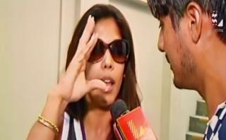 Karen Dejo: le preguntan por Farfán y pierde los papeles