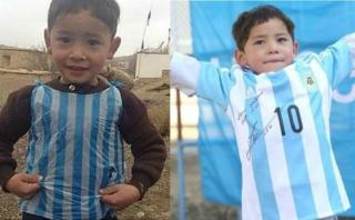 El final feliz del niño afgano con la camiseta de Messi