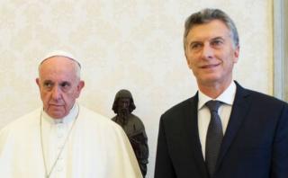 Argentina niega fría relación entre Macri y el papa Francisco