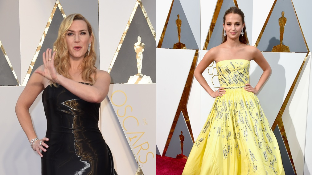 Alicia Vikander se impuso a Kate Winslet en la categoría a Mejor Actriz de Reparto en los Oscar. (Fotos: Agencias)