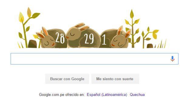 Google y su 'doodle' animado para recordar el año bisiesto 2016