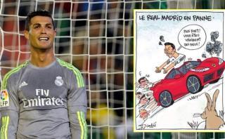 Caricatura de L'Equipe se burla de Cristiano Ronaldo