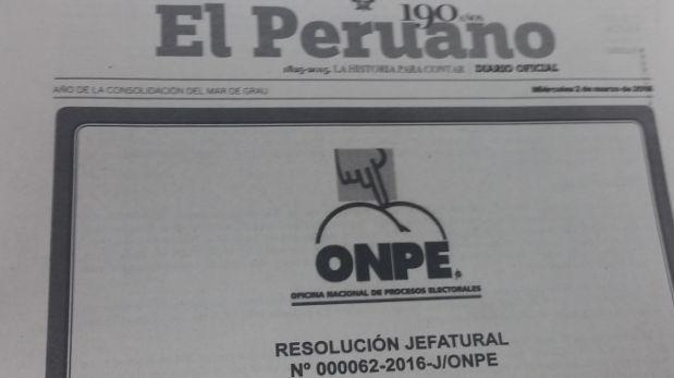 """""""El Peruano"""" confunde el símbolo de la ONPE con una caricatura"""