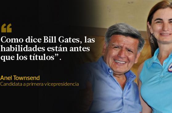 Anel Townsend y sus frases en defensa de César Acuña