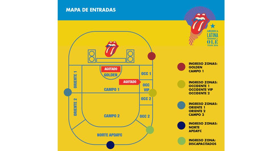 Puertas de ingreso al Estadio Monumental para show de los Rolling Stones. (Foto: Kandavu)