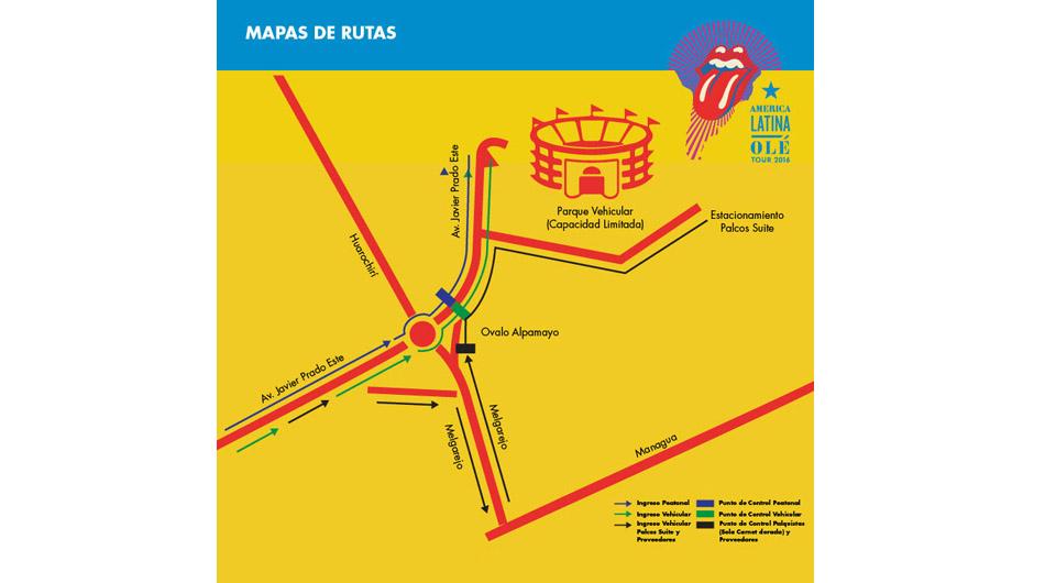 Accesos al Estadio Monumental para show de los Rolling Stones. (Foto: Kandavu)