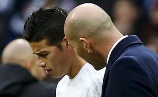 "Zinedine Zidane: ""Se está siendo injusto con James Rodríguez"""