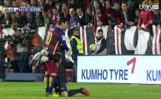 El conmovedor abrazo entre Messi y arquero del Rayo Vallecano