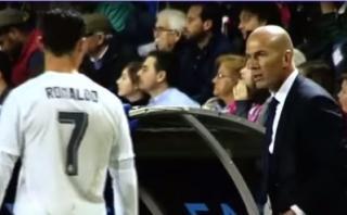 Video muestra el enfado de Zidane con Cristiano Ronaldo
