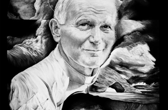 Las obras del artista argentino que pinta para el Papa